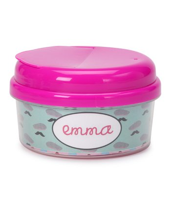 Beret & Mustache Personalized Snack Container