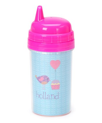 Birdie & Balloon Personalized Sippy Cup