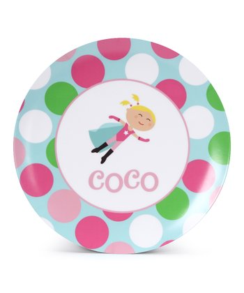 Blonde Super Girl Personalized Plate