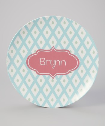 Blue Lattice Personalized Plate