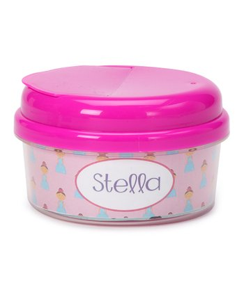 Brown-Haired Princess Personalized Snack Container