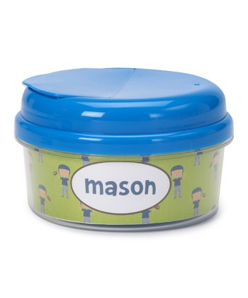 Football Player Personalized Snack Container