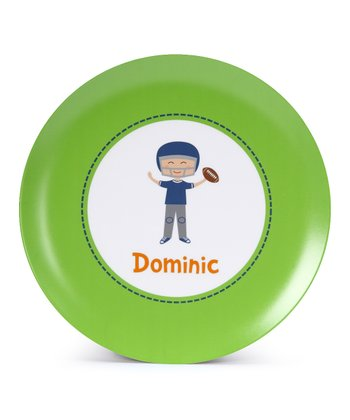 Football Player Personalized Plate