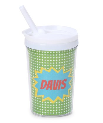 Green Pow Personalized Toddler Cup