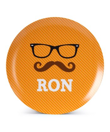 Hipster Glasses Personalized Plate
