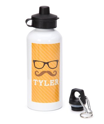 Hipster Glasses Personalized 20-Oz. Water Bottle