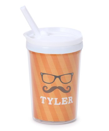 Hipster Glasses Personalized Toddler Cup