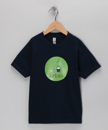 Navy Golf Personalized Tee - Boys