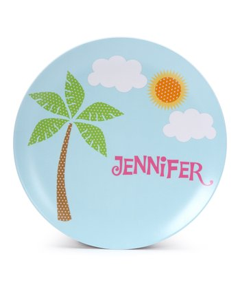 Palm Tree Personalized Plate
