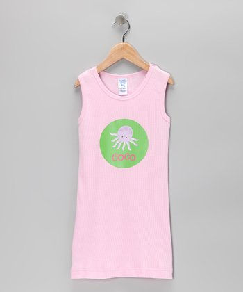 Pink Octopus Personalized Dress - Toddler & Girls
