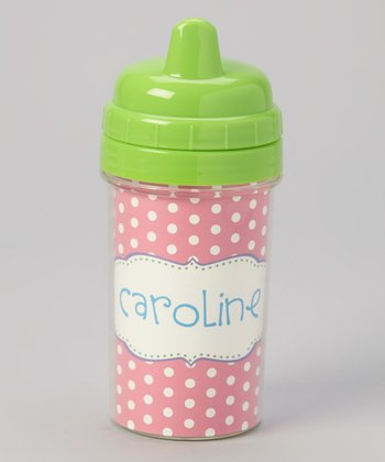 Pink Crest Personalized Sippy Cup