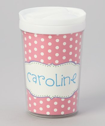 Pink Crest Personalized Toddler Cup