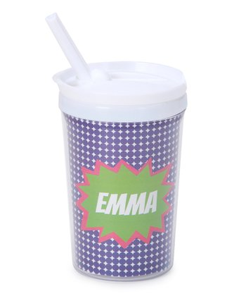 Purple Pow Personalized Toddler Cup