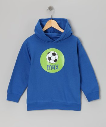 Royal Soccer Personalized Hoodie - Toddler & Boys