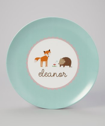 Woodland Personalized Plate
