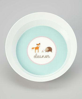 Woodland Personalized Bowl