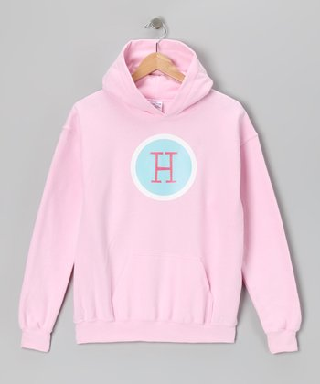 Light Pink Initial Hoodie - Girls