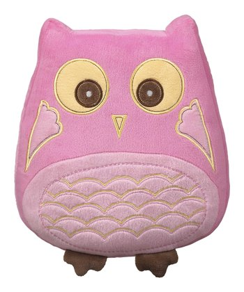 Pink Cuddle Owl Pillow