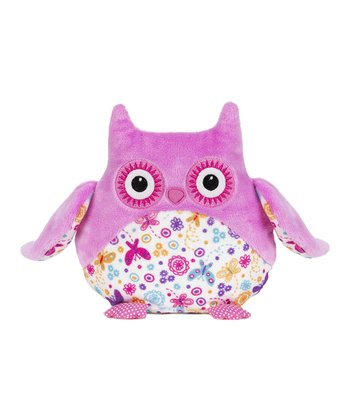 Pink & White Butterfly Flower Owl Plush Toy