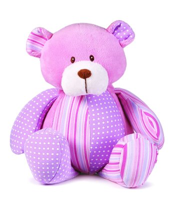 GANZ Pink Patches Bear Plush Toy