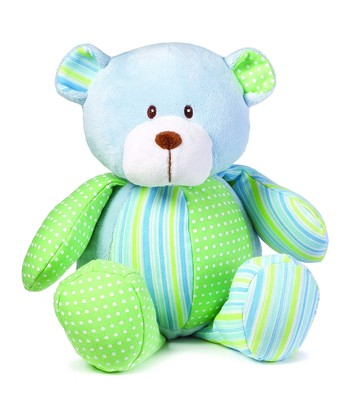 Blue Patches Bear Plush Toy