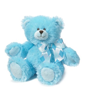 Electric Blue 8'' Jayden Bear Plush Toy