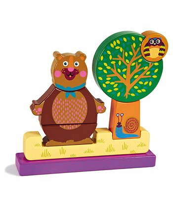 Brown Forest Bear Magnetic Puzzle