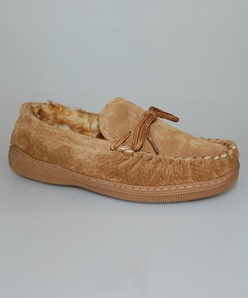 Tan Shoelace Bow Moccasin - Women
