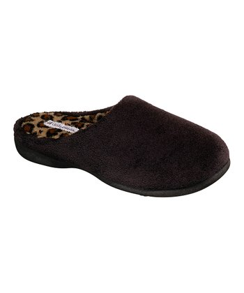 Black Low Heel Slipper