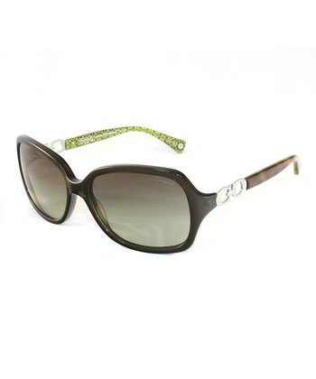 Dark Olive & Brown Sunglasses
