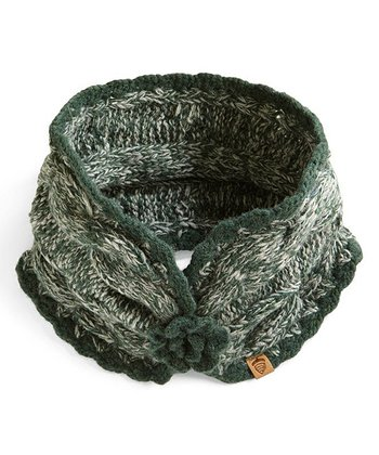 Green Emry Wool-Blend Neck Wrap