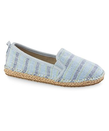 Blue Stripe Espie Moc Shoe - Women