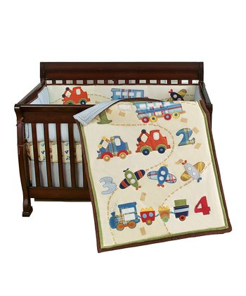 Blue 123 Go Bedding Set