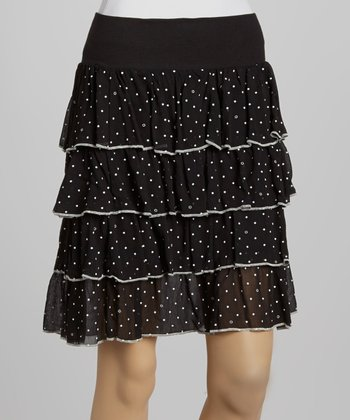 Black Star Tiered Skirt