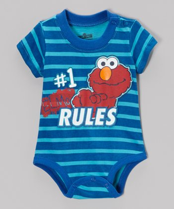 "Blue Stripe ""#1"" Elmo Bodysuit - Infant"