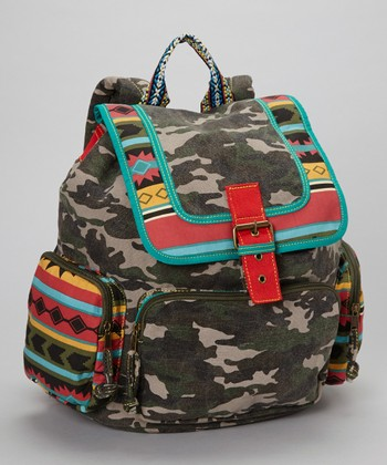 Tribal Canvas & Camo Run Indy Backpack
