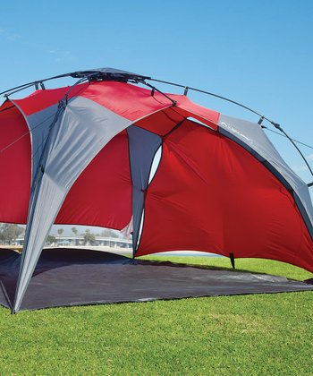 Red Quick Set-Up Canopy & Detachable Wall