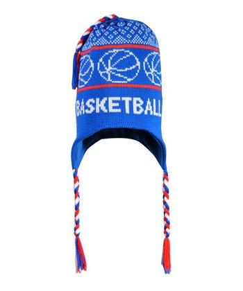 ChalkTalkSPORTS Blue 'Basketball' Earflap Beanie