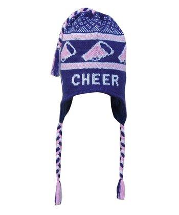 ChalkTalkSPORTS Blue 'Cheer' Earflap Beanie