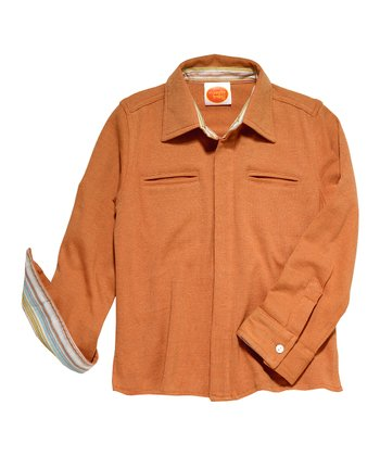 Cinnamon Dandy Long-Sleeve Button-Up - Toddler & Boys