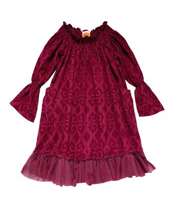 Plum Ikat Medley Dress - Toddler & Girls