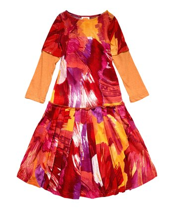 Holi Pepa Layered Dress - Toddler & Girls
