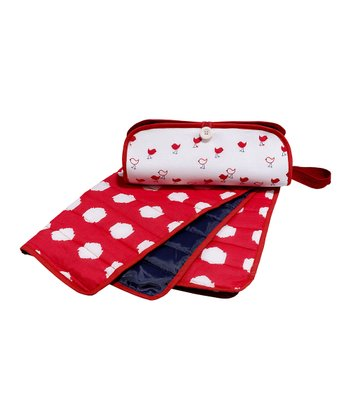 Masala Baby Red & White Diaper Clutch & Changing Pad