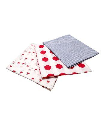 Masala Baby Red & Blue Swaddling Blanket Set