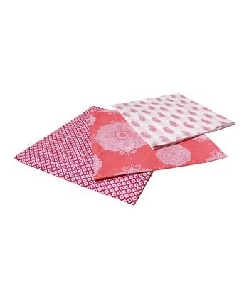 Masala Baby Pink & White Swaddling Blanket Set