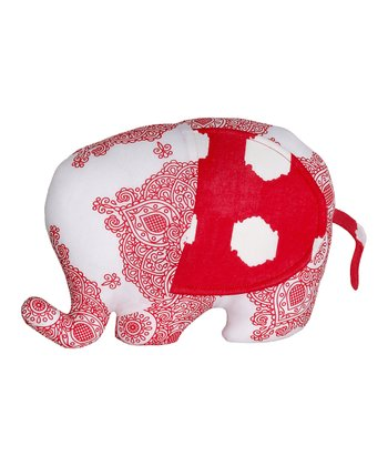 Masala Baby Red & White Ikat Elephant