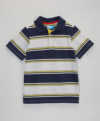 Blue Stripe Polo - Infant, Toddler & Boys