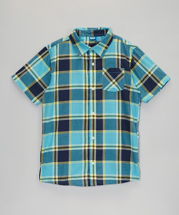 Blue & Yellow Plaid Button-Up - Infant, Toddler & Boys