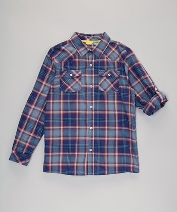 Blue Plaid Button-Up - Infant, Toddler & Boys