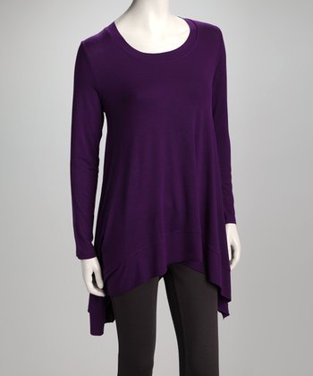 Purple Sidetail Top
